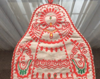 Russian Folk Warmer Embroidered Linen