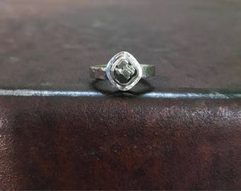 Peruvian Pyrite & Sterling Silver Ring - Pyrite Ring - Size 5