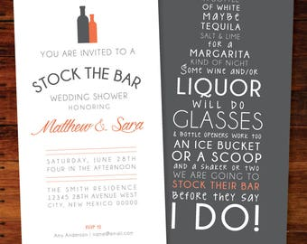 Stock The Bar Invitations - set of 25