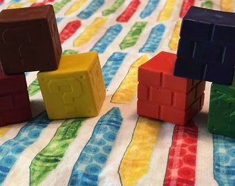 Inspired Super mario brothers 3-D block crayons