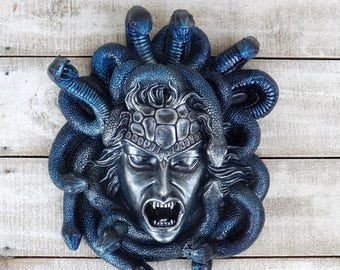 ON SALE Medusa,Medusa Sculpture,Medusa Head Wall Hanging,Greek Mythology,Gorgons,Mythical,Keto,Snakes,Mythical Sculpture