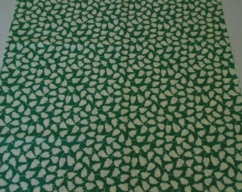 Vintage Style Cotton Fabric, Marcus Fabrics, Aunt Graces Garden Party, Quiltsy Destash Party, 1930s Reproduction Fabric, Green and Ivory