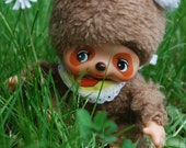 Reserved for tamycherry -- Little Bebichhichi Monchhichi baby racoon doll