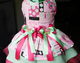 Dog Dress butterfly dog clothes
