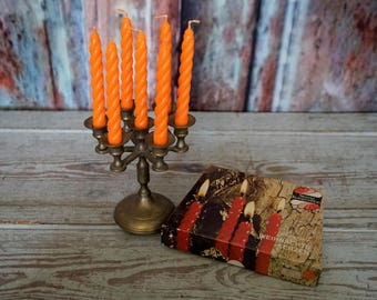 Petite Candelabra and Candles
