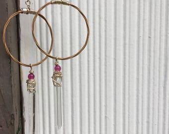 Repurposed guitar string hoops