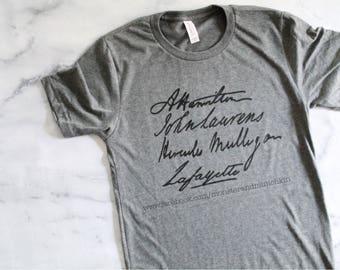 Alexander Hamilton, John Laurens, Hercules Mulligan, Lafayette, history, american revolution, Hamilton shirt, HamilSquad, Laurens, America,