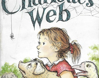 Vintage Mid Century Children's Book - Hard Cover Edition - Charlotte's Web