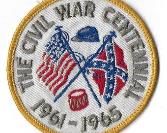 Vintage Cloth Patch - The Civil War Centennial - 1961-1965