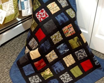 FREE SHIPPING, Military Quilt, Man Quilt, Because of the Brave, Veteran, Army, Marine, Navy, Airforce