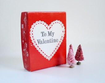 "Vintage Valentine Gift, I LOVE YOU Retro Valentine, Mechanical Beating Heart Gift 57 ""My Heart Beats for You"" SwirlingOrange11"