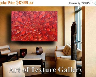 SALE 64 x 40 x 1.5 Huge Abstract Painting Custom Original Heavy Textured Impasto Modern Brown Red Copper Gold Black Oil by Je Hlobik