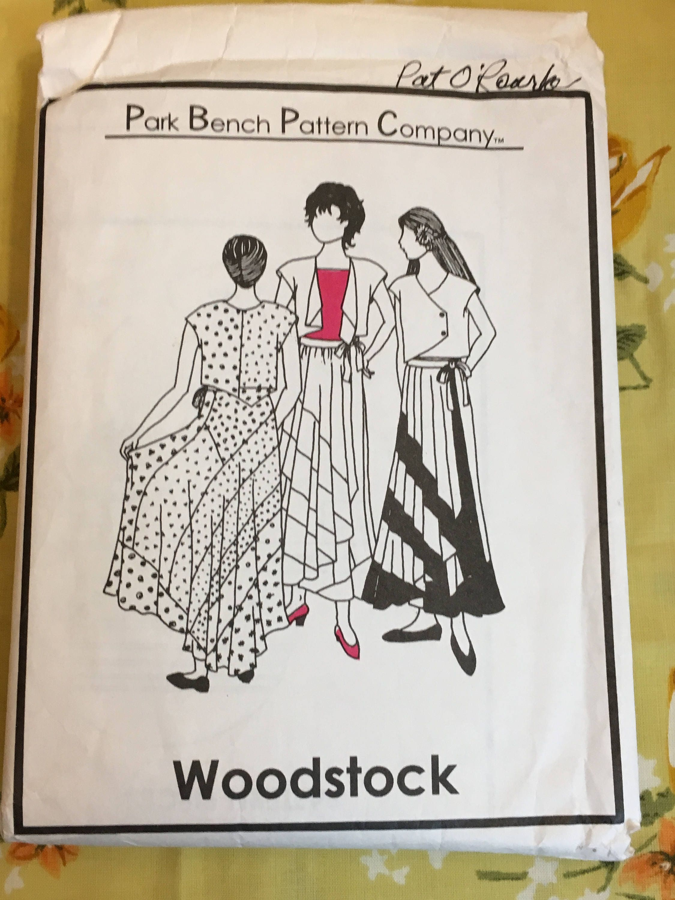 Park Bench Pattern Company Sewing Pattern Woodstock No 20 Misses