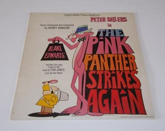 1976 - The Pink Panther Strikes Again - Original Motion Picture Soundtrack - LP Vinyl Record Album - 60s / Spy Movie / Peter Sellers