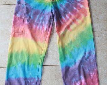 Tie Dye Scrubs Pants   Size Small upcycled