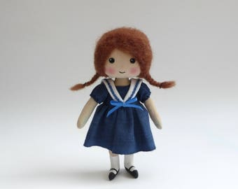 rag doll, tiny doll, art doll, doll in sailor-suit, Edwardian doll, miniature doll, gifts for her, collectors doll
