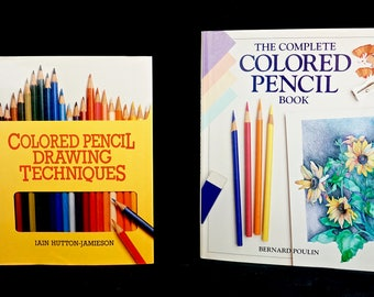 Lot 2 COLORED PENCIL DRAWING Books Both Hardbound, Dust Jacket, First Editions 1986 & 1992