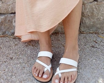 ON SALE sandals, women sandals, greek sandals, white sandals