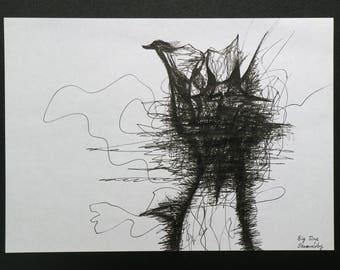 music-drawing: Big Time Sensuality, Björk