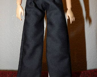 Fashion Doll Coordinates - Basic black pants - es448
