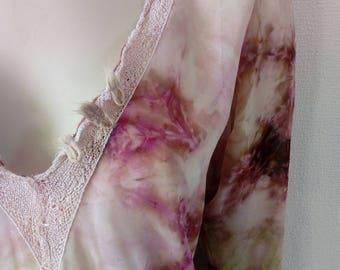 Long sleeves blouse/SANDRO/Silk/Spring-Summer Top/Pink blouse/Women's Tops