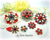 Authentique Heroic Handmade  Paper Flowers, Embellishments for Scrapbook Layouts Cards Tags Mini Albums Altered Art Planners, Paper Crafts