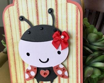 Large Lovely  Ladybug Gift Tag