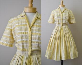 1950s Mr. Eddie Striped Shirtwaist Dress