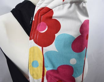 MEI TAI Baby Carrier / Sling  / Reversible / Floral Extravaganzas / Straight cut model / 100% Cotton / Made in UK