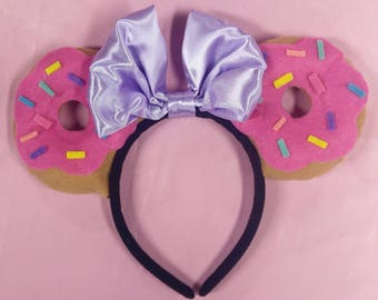 Pink doughnut minnie ears