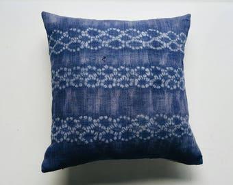Vintage Batik Hmong Pillow Cover - Modern Bohemian Throw Pillows