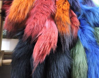 Colored Coyote tail, fur, tails, real