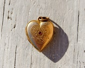 Reserved Layaway Victorian Gold Fill Heart Locket Pendant