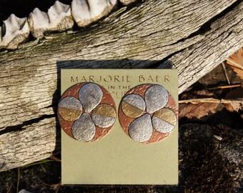 1980's Marjorie Baer Modernist Clip Earrings