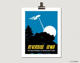 The Future Birthplace of James T Kirk Riverside Iowa Travel Poster