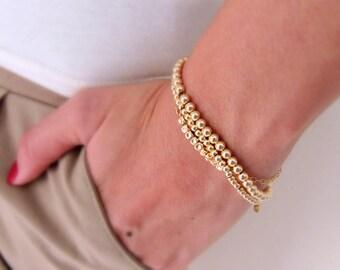 Saved For Janice*** Gold bracelets, Silver bracelets, Bracelet set, Beaded bracelets, Gold stack bracelets, Gold bead bracelets
