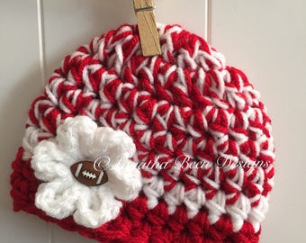 Arkansas Razorbacks inspired baby hat - team sports - sports props - made to order