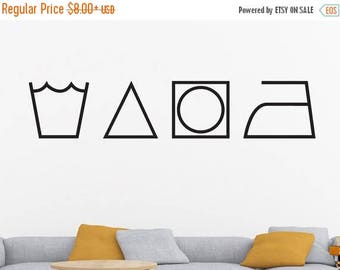 Laundry Room Decal, Laundry Decal, Laundry Symbols, Laundry Wall Decal, Laundry Room Wall Decor, Laundry Room Wall Decal, Decal, Vinyl Deca