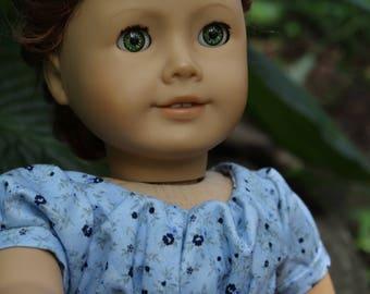 1820 Regency Era Empire Waist dress-fit 18 Inch Doll like Caroline