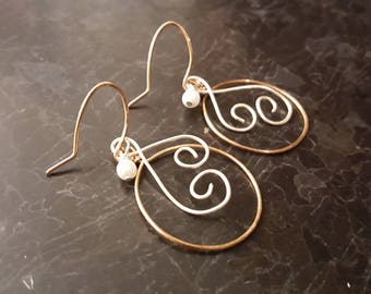 Cute Wire Wrapped Heart Earrings