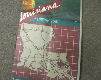 Louisiana A Dream State Official State Map Issue With 1984 Louisiana World's Fair Exposition The World of Rivers New Orleans Louisiana Fun