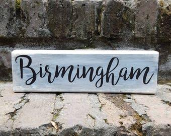 Birmingham Block Sign