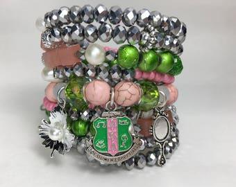 Alpha Kappa Alpha Snake Bracelet