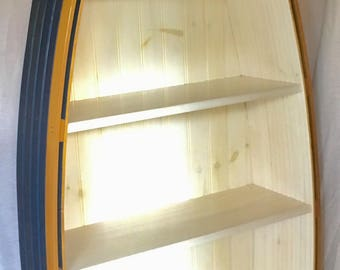 Boat Bookcase, H 69 inches, 5 shelves