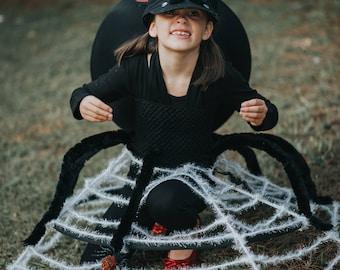 girls black widow spider dress halloween costume newborn 5t