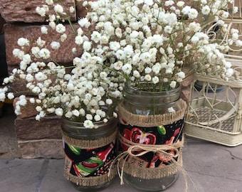 Mason Jar Wrap, Cajun, Creole, Seafood, Louisiana, Mason Jar Decoration, Baby Shower, Party, Wedding Decoration