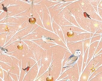 Woodland Wonder, Winter, Owls, Snow, Branch Toss