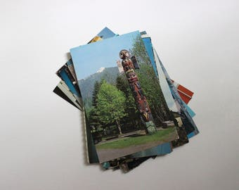 20 Vintage Alaska Chrome Postcards Blank - Wedding Guestbook