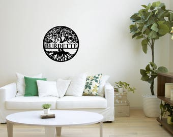 Tree of Life, Monogram,Monogram Gift, Tree of Life Sign ,Personalized Gift,Wedding Gift Metal Art,  Personalized Tree of Life Sign
