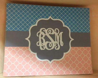 8x10 Custom Monogram Canvas